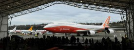 The 747-8 Intercontinental. (Mark Ralston/AFP/Getty)