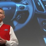 Alan Mulally, CEO of Ford Motor Co., presenting the new Ford Sync system in Germany earlier this month. (Gallup/Getty Images)