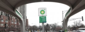 A BP station at the corner of LaSalle Blvd. and Clark Street in Chicago, March 7, 2011. (Heather Charles/Chicago Tribune)