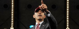 President Barack Obama wears a Chicago Bulls cap after speaking at last night's Navy Pier fundraiser. The president said this morning that there is little he can do about high oil prices. (Mandel Ngan/AFP/Getty Images)