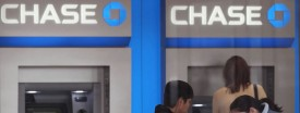 Customers use Chase Bank ATMs on March 17, 2011 in Chicago. (Scott Olson/Getty Images)