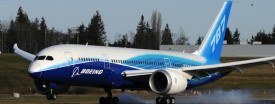 A 787 Dreamliner passenger jet lands during testing at the Boeing factory at Paine Field in Everett, Washington, March 20, 2011. (Mark Ralston/AFP/Getty Images)