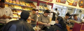 A busy morning at the Dunkin' Donuts franchise in the village of Posen. (Zbigniew Bzdak/Tribune)