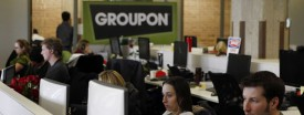 Employees work inside Groupon's headquarters at 600 W Chicago Ave., Feb. 15, 2011. (Brian Cassella/Chicago Tribune)