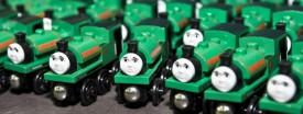 Thomas & Friends trains at the Jetson International Limited factory in Dongguan, China, Sept. 28, 2007. (Michael Lassman/Chicago Tribune )