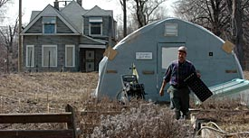 An urban farm in Detroit. (Heather Stone/Tribune)
